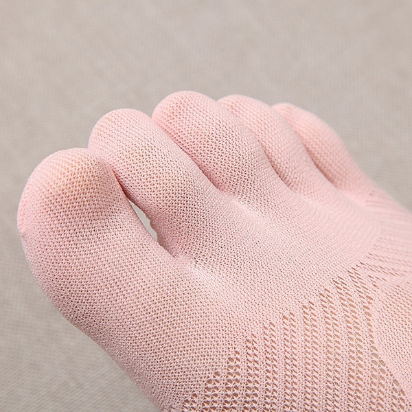 Fashion Ladies Cotton Blend Lace Antiskid Invisible Low Cut Socks Toe Ankle Sock