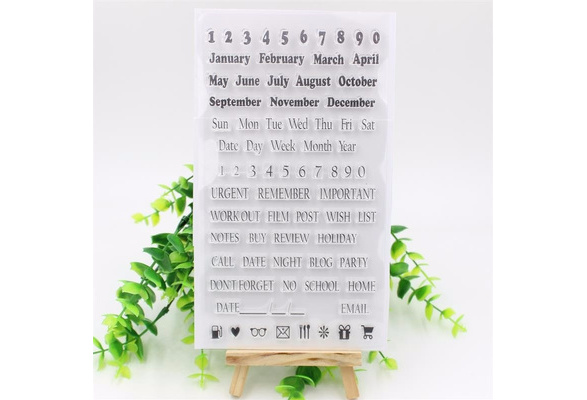 Month Notebook Clear Silicone Stamp Scrapbook DIY Photo Cards Rubber Stamp