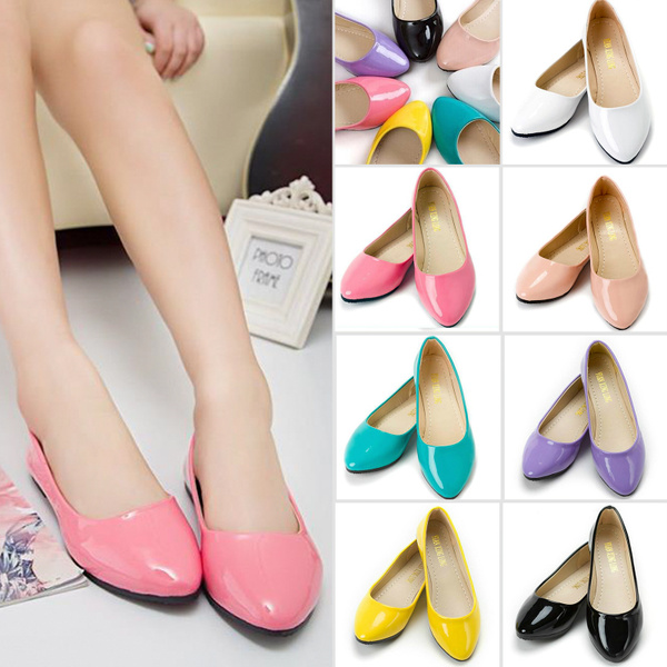 Picture of Women Ballet Flat Single Shoes Casual Patent Leather Shoes Pumps Flat Slipper