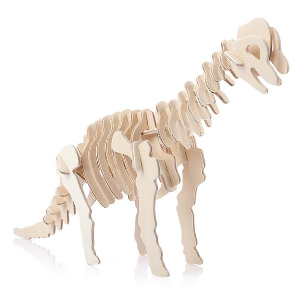 Sealand G J013 Creative Wooden Diy 3d Simulation Animal Dinosaur Brachiosaurus Assembly Puzzle Toy
