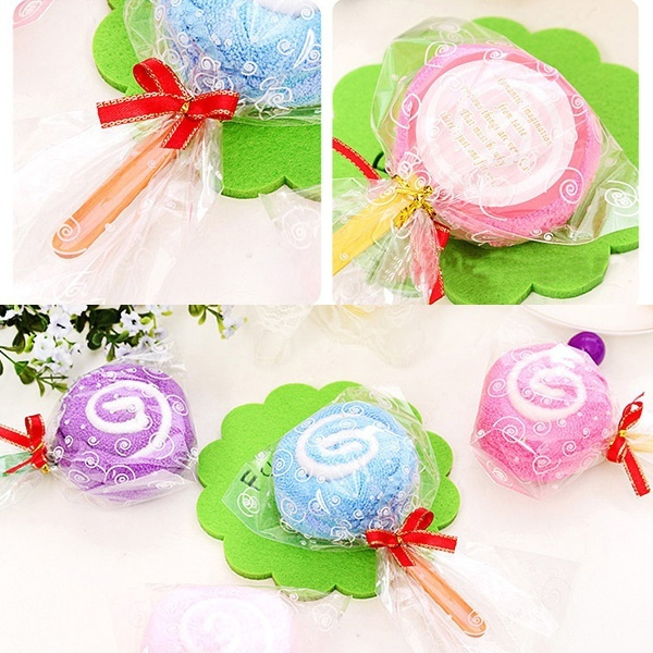 Wish Dreamfactory 10pcs Lollipop Candy Towel Washcloth Wedding