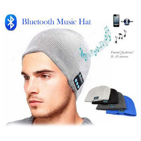 9e147623c Unisex Wireless Bluetooth Hats Knitted Winter Beanie Smart Bluetooth Caps  Bluetooth Speaker Women/Men Warm Beanie Hats