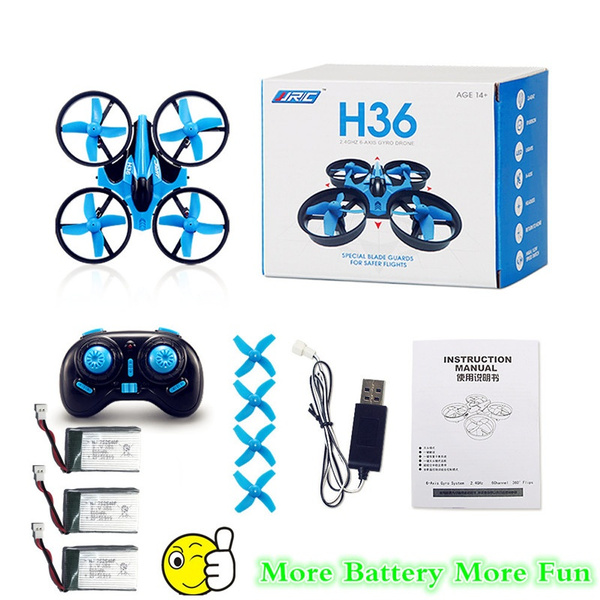 Picture of Jjrc H36 Mini Drone 6 Axis Rc Micro Quadcopters With Headless Mode One Key Return Helicopter With 3 Batteries Gift For Kids