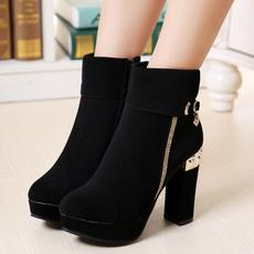 anklebootsforwomen, chunkyheelankleboot, Winter, Womens Shoes