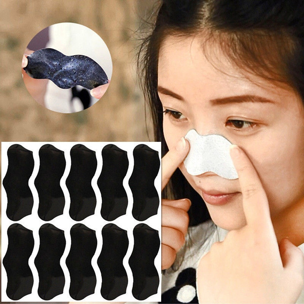 Picture of 10pcs Blackhead Acne Removal Strong Stickers Nose Blackhead Pore Cleansing Cleaner