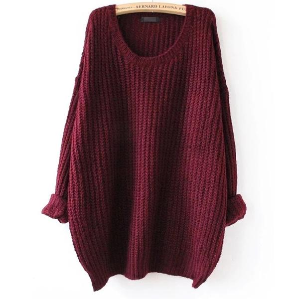 Wish | Oversized Sweater Autumn winter sweaters women pull femme ...