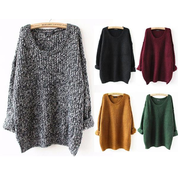 Leuke Kersttrui.Oversized Sweater Autumn Winter Sweaters Women Pull Femme Knitwear