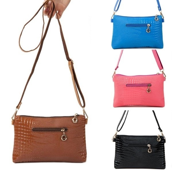 Picture of Women's Pu Leather Messenger Bag Handbag Clutch Crossbody Satchel Shoulder Bags
