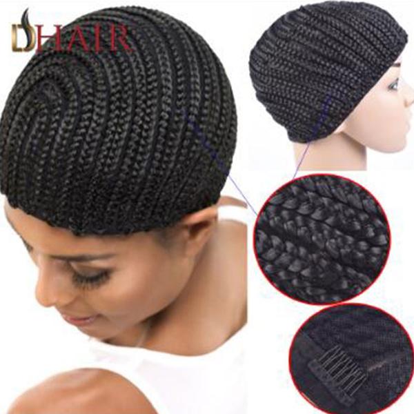 Wish Wholesale 2pieces Cornrow Wig Cap For Making Wigs Adjustable