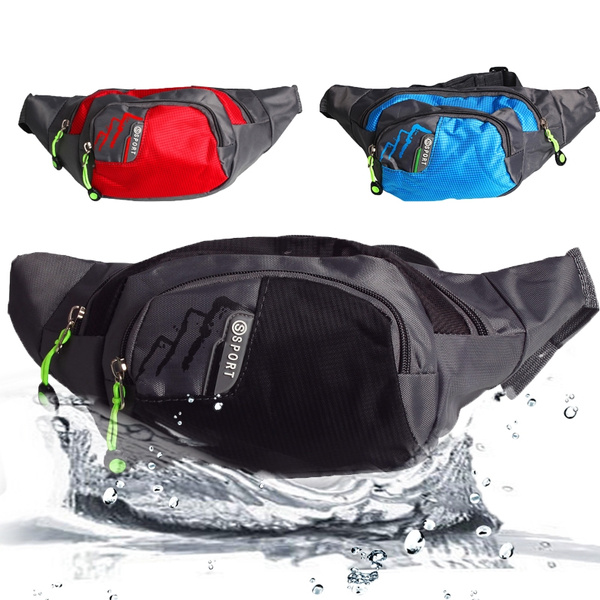 Picture of New Fashion Fanny Pack Chest Waist Bag Pouch Belt For Running Workouts Travel Outdoor Sport - Men And Womens Bag - Black Blue Red