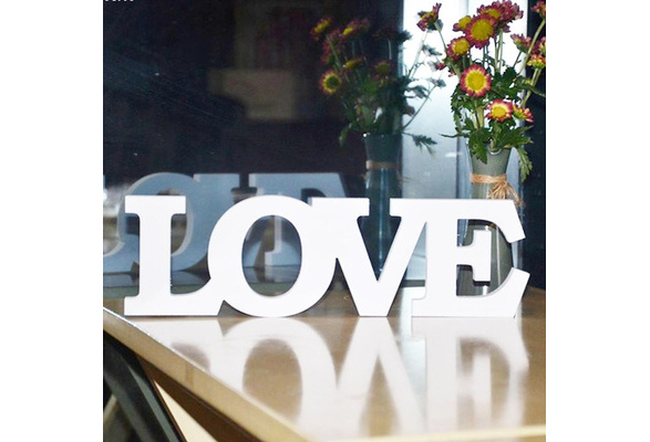 LOVE Letters Wedding Photo Props Wedding Signs Home Room Wall Decoration Party Supplies (Color: White)