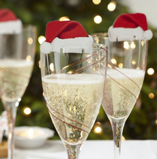 Mini, Decor, champagne, noeldecoration