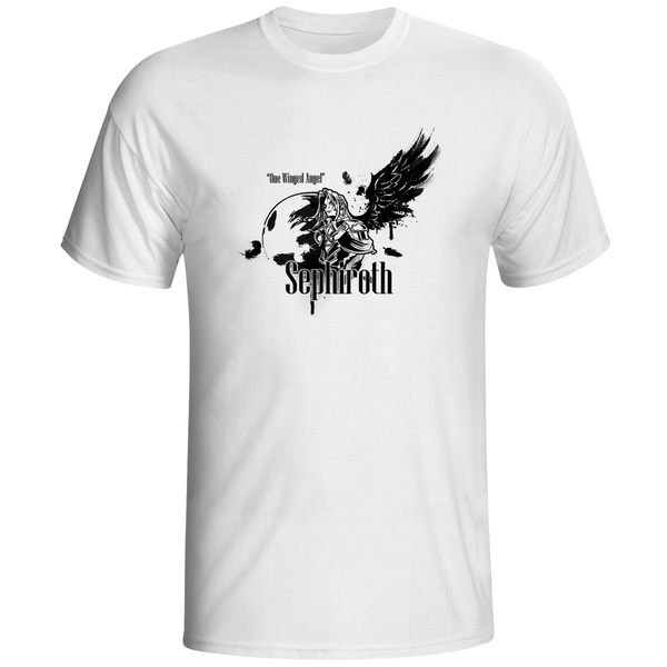 Splashed One Winged Angel Sephiroth T Shirt Video Game Final Fantasy Design T Shirt Fashion Tshirt Unisex Top Style Cool Printed Tee Wish