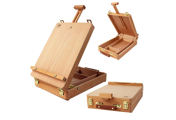 US Art Supply Medium Wooden Sketchbox Box Artist Easel Standard Sketchbox Easel