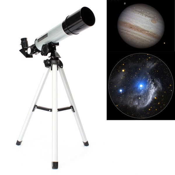 (US CN Warehouse)Refractive Monocular Astronomical Telescope Space Spotting  + Telescope Tripod(F360 x 50mm)