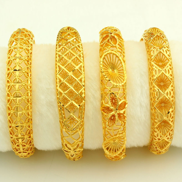 Dubai Gold Bangles Women Men