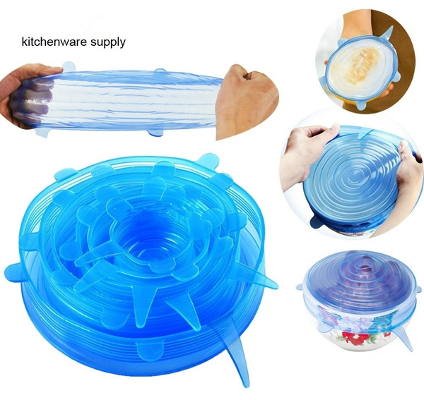 Astonishing 5Pcs Set Universal Silicone Saran Wrap Cover Lids Food Bowl Pot Stretch Kitchen Vacuum Seal Reusable Suction Sealer Pdpeps Interior Chair Design Pdpepsorg