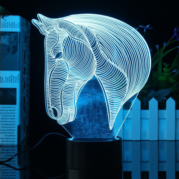 Geek | Creative 3D Horse LED Night Light 7 Color Change