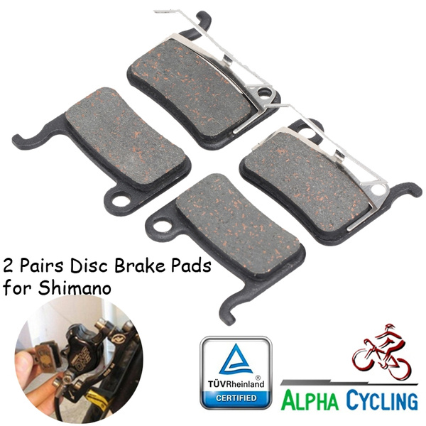 2 Pairs Bike Bicycle Disc Brake Pads for Shimano M785//M615//Deore XT// XTR Resin