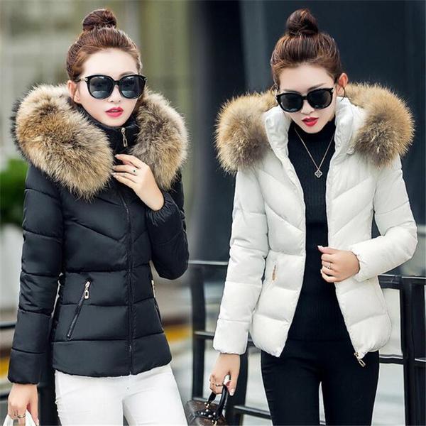 Wish | Fake Fur Collar Parka Down Cotton Jacket 2017 Winter Jacket ...