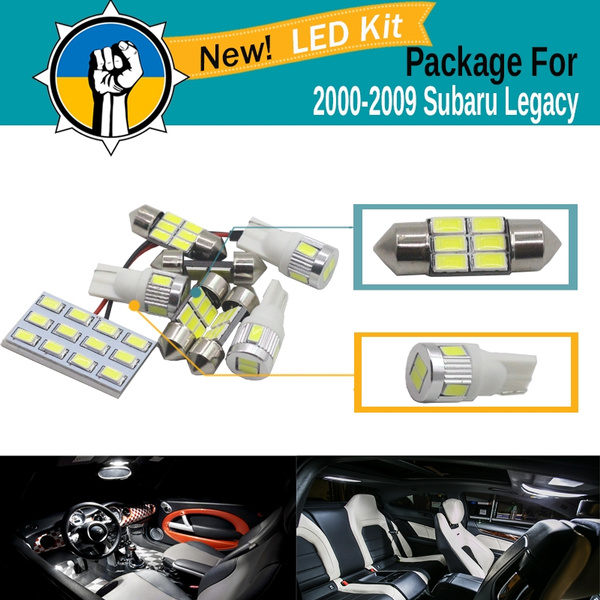2000-2009 Subaru Legacy Red LED Lights Interior Kit