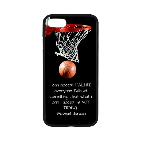 timeless design 66247 aa686 Michael Jordan Basketball Never Stops Cool Phone Case Cover for Apple  Iphone 6/ 6 Plus/ 6S/ 6S Plus/ 7/ 7 Plus and Sumsung Galaxy Phone
