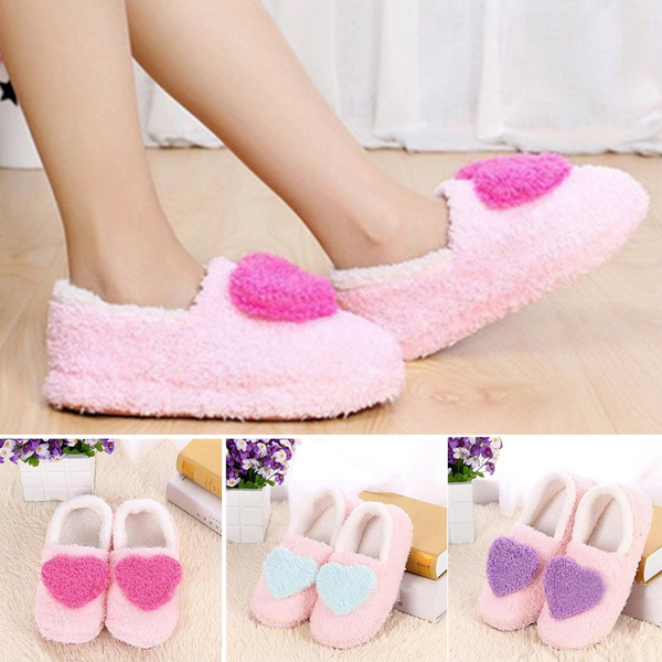 Picture of Lovely Ladies Home Soft Indoor Slippers Winter Cotton Padded Shoes Female Cashmere Warm Shoes