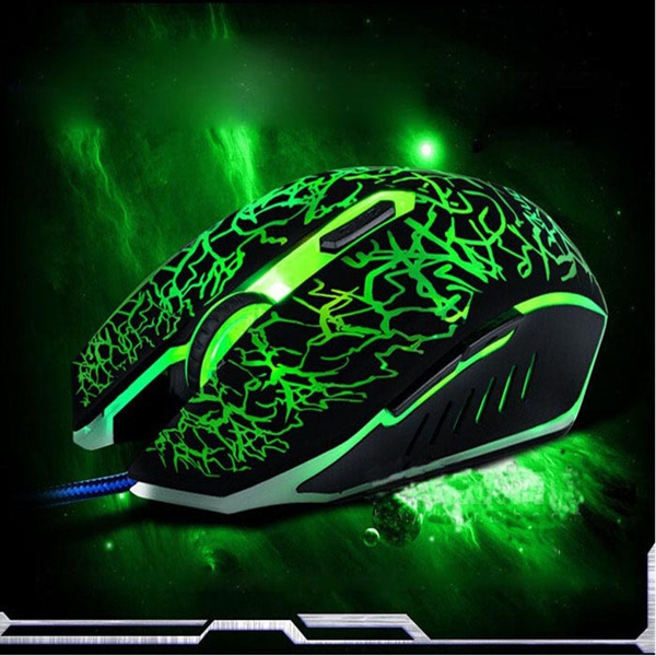 Picture of Professional Colorful Backlight 4000 Dpi Optical Wired Gaming Mouse Gamer Mice For Pc Laptop Color Black