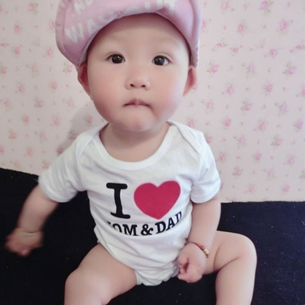 New Fashion Baby Clothing Rabbit Print Short Sleeves Rompers Casual Infant Baby Bodysuit Sleepwear