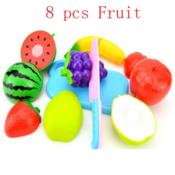 4/6/8/11pcs Fruit Cutting Set Role Play Pretend Reusable Fruit Vegetable Food Kitchen