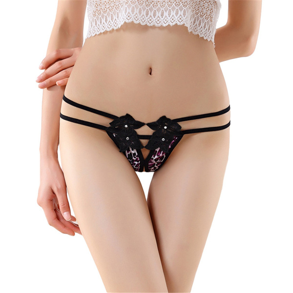 0391dbe68b05 Hot Sale Sexy Women Leopard Crotchless Panties Women Tongs and G ...
