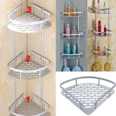 cornershelf, tidyorganiser, Aluminum, bathcaddiesstorage