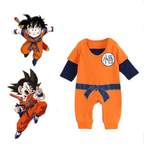 1e5d03b2c9d64 Dragon Ball Son-goku Baby Kostüm Neugeborene Kleinkinder Junge Kleidung