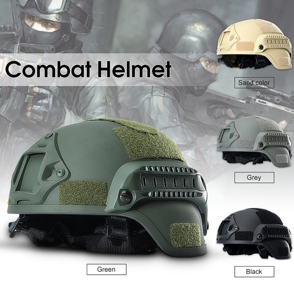 MICH 2000 Airsoft Tactical Hunting Combat Helmet w// Side Rail Mount Army Sand