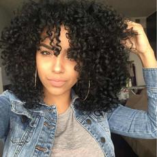 Black wig, afrokinkycurlywig, africanamericanwig, fashion wig