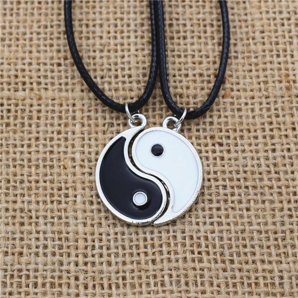 enamelnecklace, friendshipnecklace, Jewelry, taichi