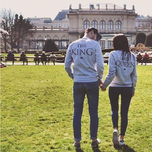 Women Fashion Casual Print Couple T-shirt