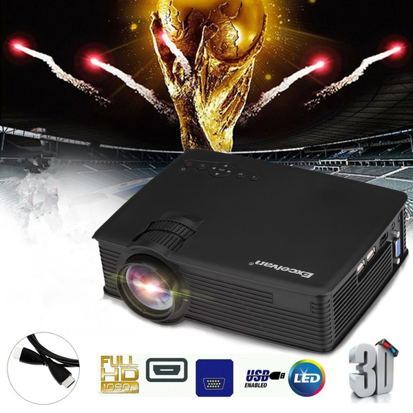 Picture of Mini Led Projector 800x480 Pixels 1200 Lumens Home Cinema Theater Hdmi/usb/usb5v/sd/av//vga/3.5mm Ehd09po Box Address Is Not Accepted