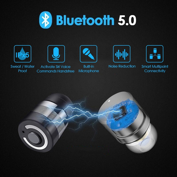 Bluetooth 5 0 True Wireless Earbuds / Portable Charger  Bluetooth  Headphones Smallest Cordless Hands-free Mini Earphones Headset / Mic Noise  Reduction