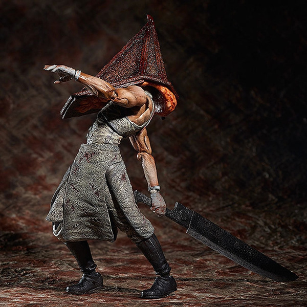 Silent Hill 2 The Pyramid Head Action Figure Evil Red Pyramid