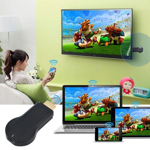 Air paly WIFI Media Player 1080P Windows iOS Android Ipush Smart TV Stick  Dongle Google Chromecast