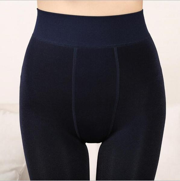 NEW plus cashmere leggings women girls Casual Warm Winter Bright Velvet Knitted Thick Slim Legging Super Elastic