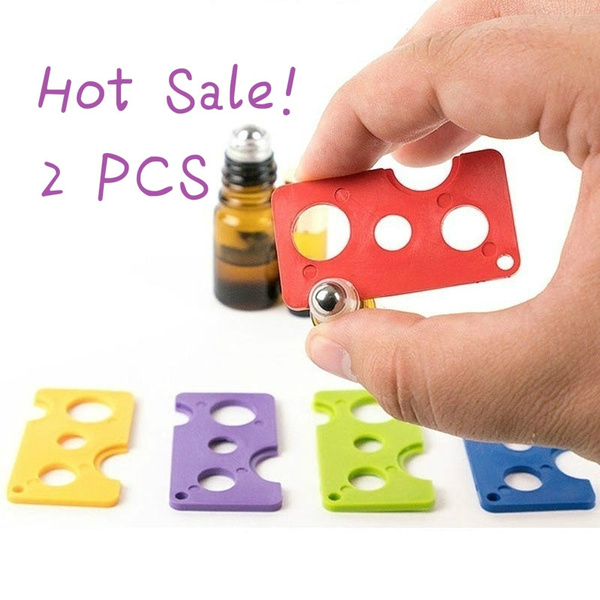 Picture of 2 Pcs Essential Oils Opener Key Tool Remover For Roller Balls And Caps On Most Bottles Color Multicolor