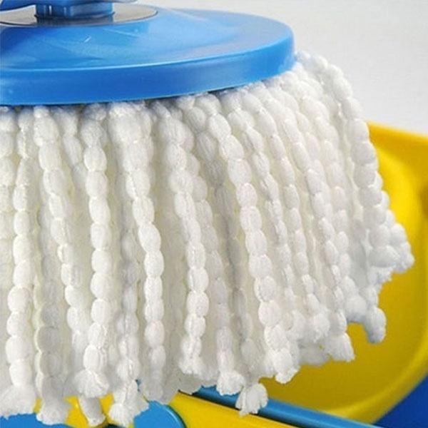 360° Rotating Microfiber Magic Floor Bucket Mop Heads Household Supplies швабры