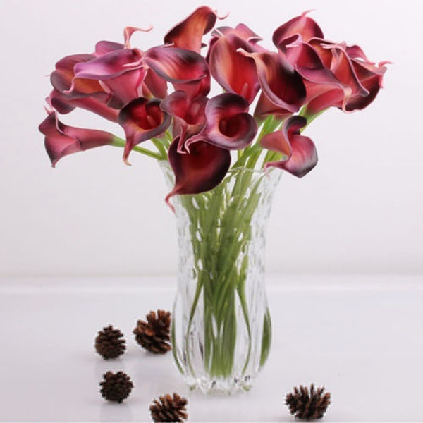 Picture of Flower Party Fake Bridal Home Calla Artificial Flowers Bouquet Wedding