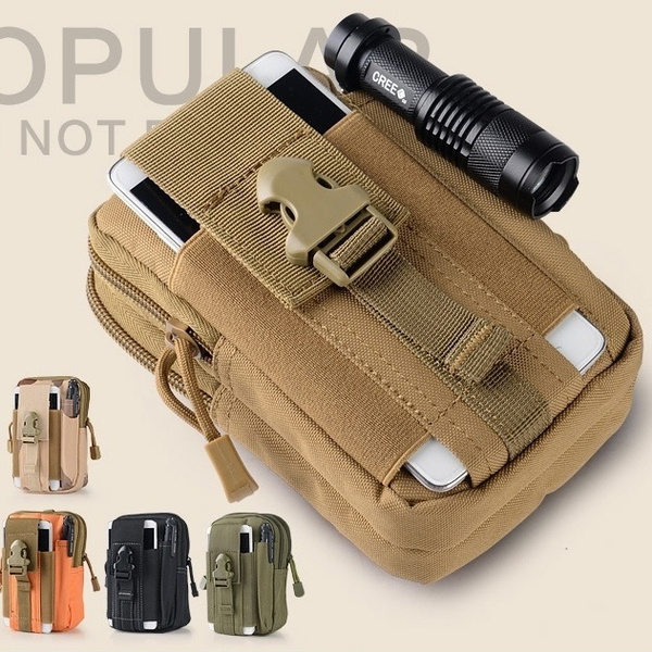 Picture of Tactical Molle Waist Bags Men's Outdoor Sport Casual Waist Pack Purse Mobile Phone Case For Phone 1000d Cordura