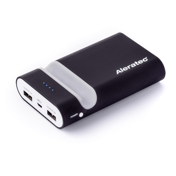 Picture of Aleratec 7800mah External Battery Power 2 Port Usb Charger Color Black