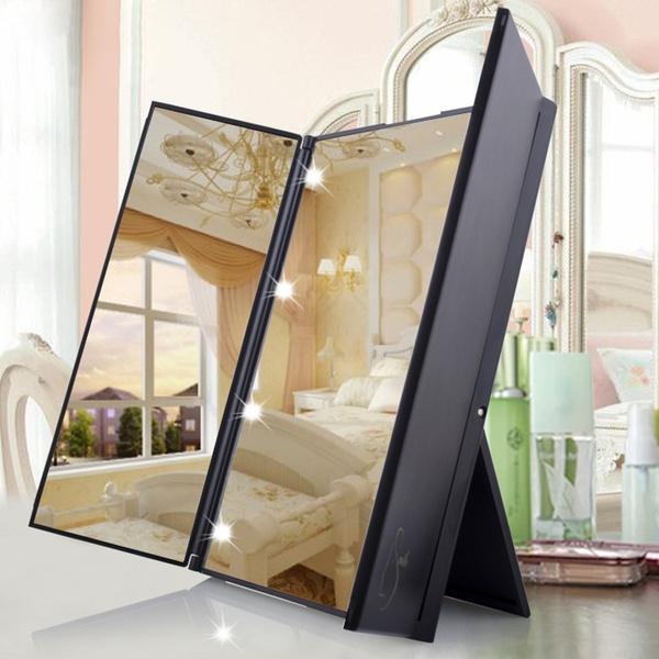 Make Up Für  8 LED-Licht  Folding  Spiegel Vanity Dressing 0856 W