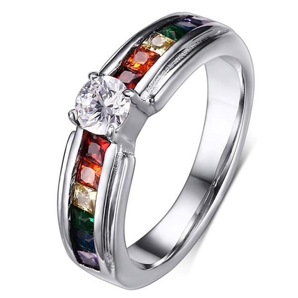 Steel, weddingengagementring, Fashion, Stainless Steel