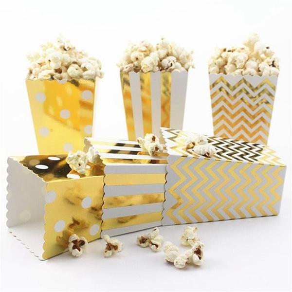 Box, babyshower, candybox, gold